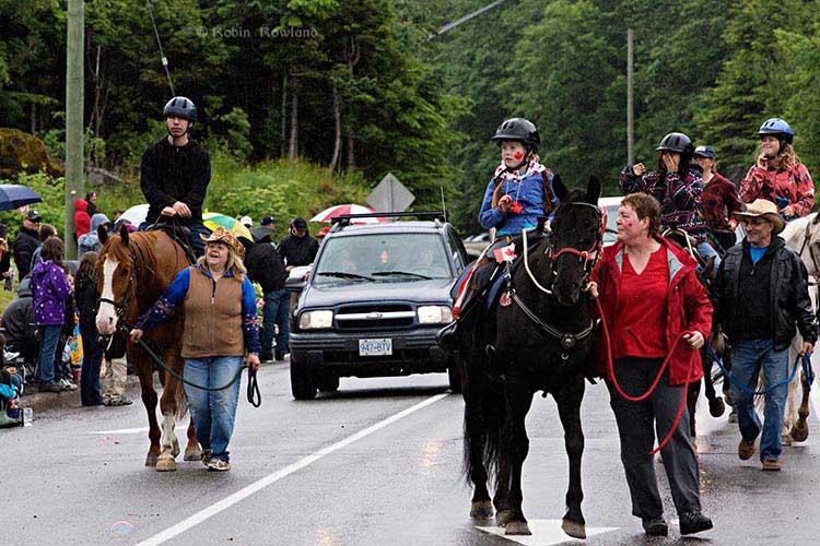 Kids on horses