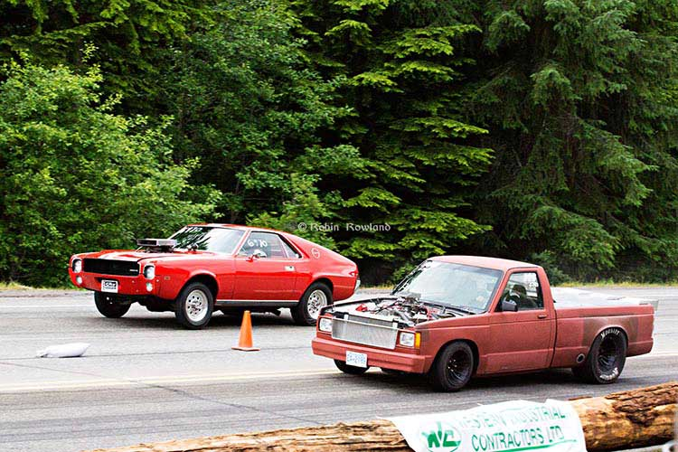 Muscle cars reace up Haisla Hill