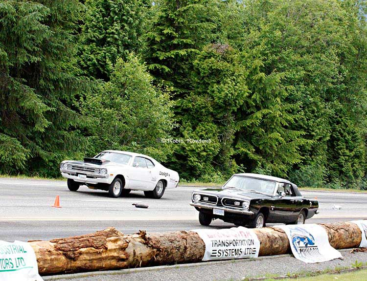 Muscle cars race up Haisla Hlll