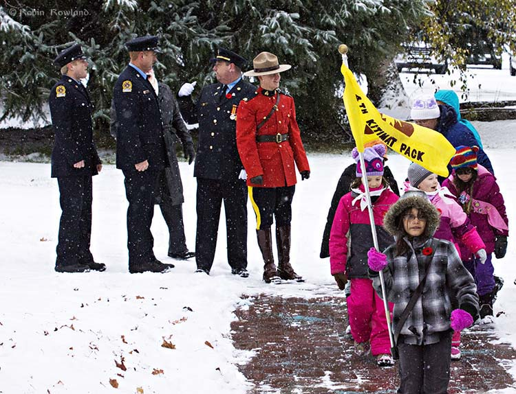 Brownies lead Remembrance Day parade