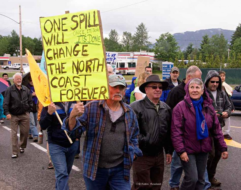 Anti-Enbridge demo, Kitimat, June 24, 2012