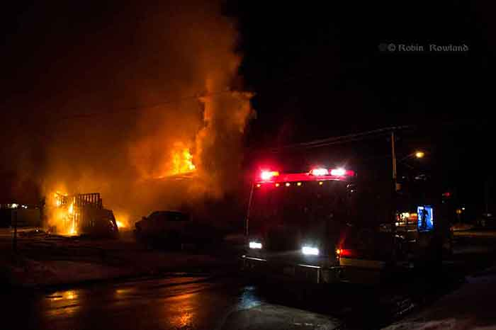 House fire on Whittlesey Street, Kitimat, March 2, 2013