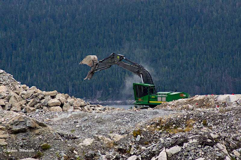 Excavator at Bish Cover