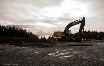 Excavator at Kitimat