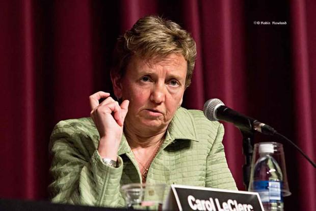 Carol Leclerc at all candidates meeting