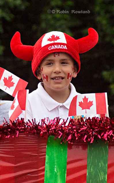 Boy on Canada Day float
