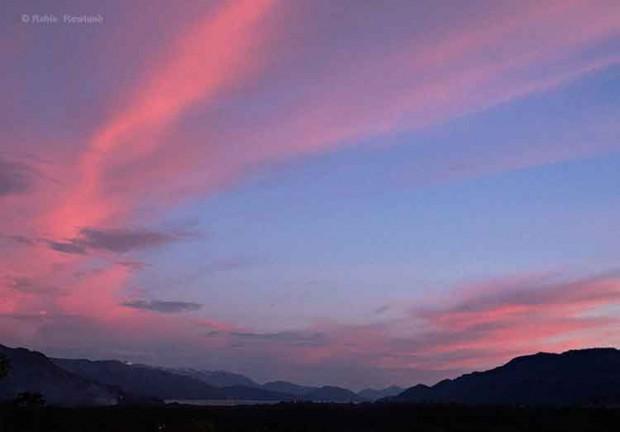 Sunset over Douglas Channel