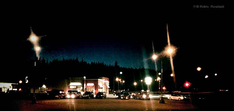 Tim Horton's on a summer like September night in Kitimat, BC