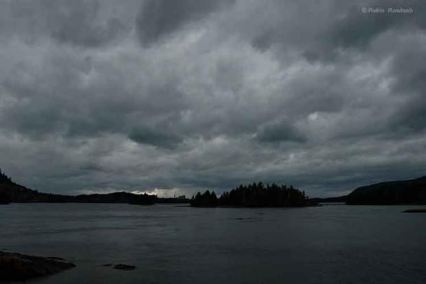 Storm over Kaien Island