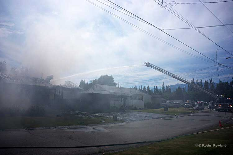 Firefighters in Kitimat