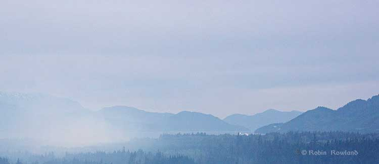 Smoke over Kitimat