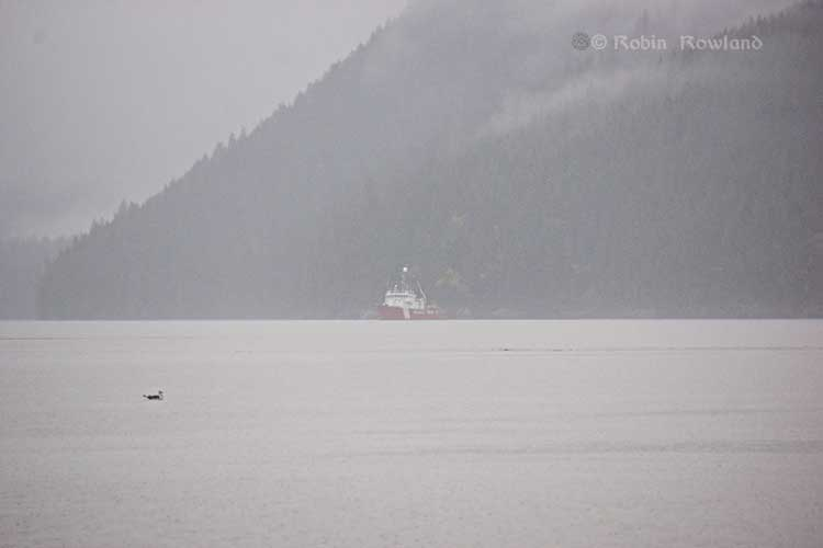 Canadian Coast Guard patrol vessel Gordon Reid, off Coste Island, Kitimat