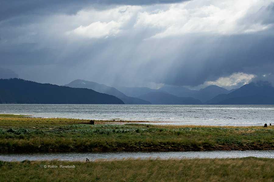 Sun, clouds and rain at MK Bay, Kitimat
