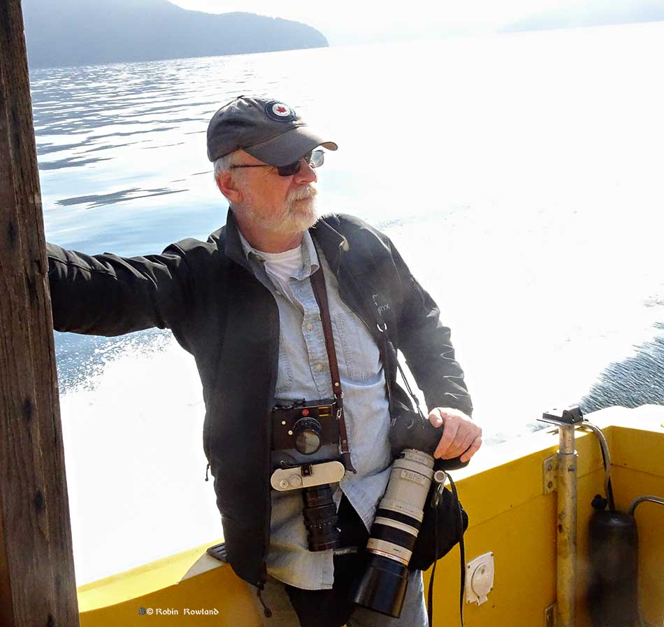 Photographer Andy Clark on board the North West Photo Fest Douglas Channel tour. (Robin Rowland)