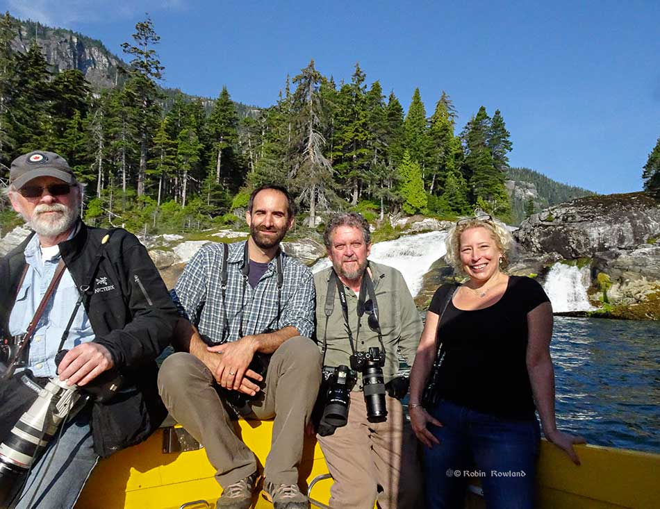 Andy Clark, Paul Colangelo, Robin Rowland and Ali Ledgerwood at Jesse Falls. (Rick Thompson)