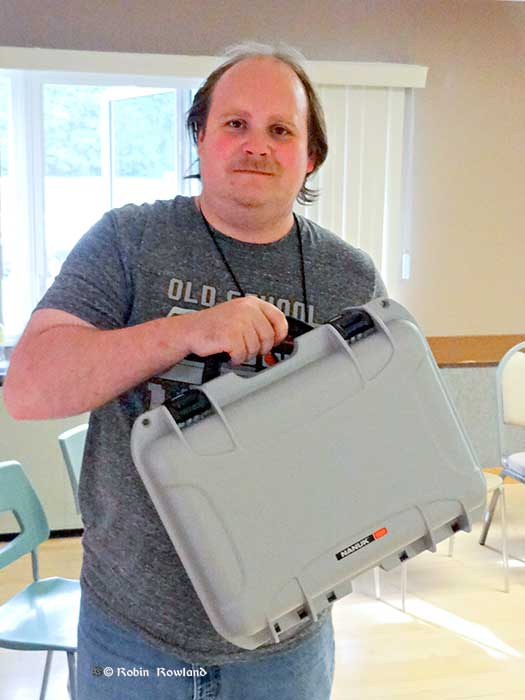 Journalist Walter McFarlane won a Nanuk case at the North West Photo Fest. (Robin Rowland)