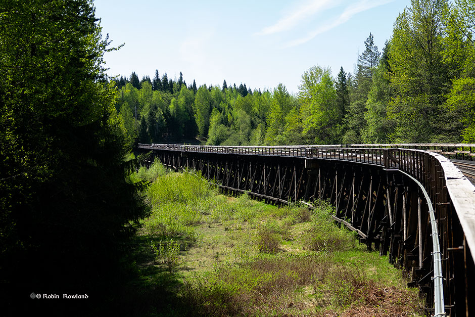The Kitimat branch line operating trestle bridges