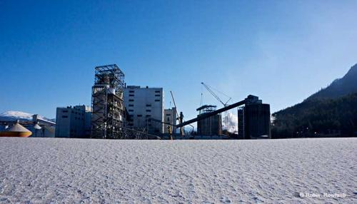 The Rio Tinto Alcan aluminum smelter is seen during a media tour of the Kitimat Modernization Project, March 4, 2014.