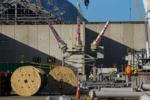 The Rio Tinto Alcan aluminum smelter is seen during a media tour of the Kitimat Modernization