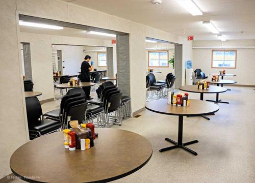 A work camp dining room is seen in October, 5, 2014, during a media tour of the Chevron Kitimat LNG project.