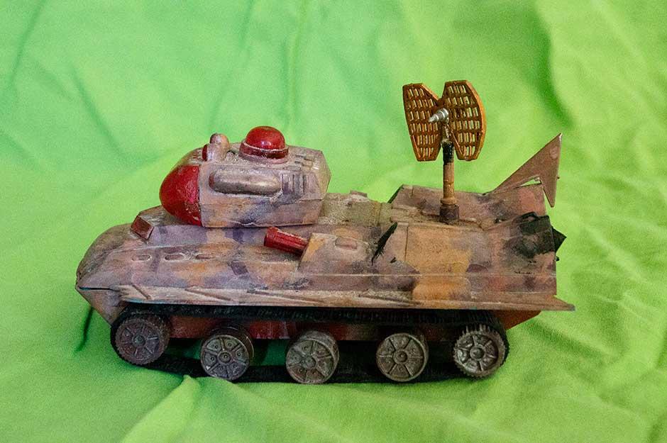 "A vintage model ""tank"""