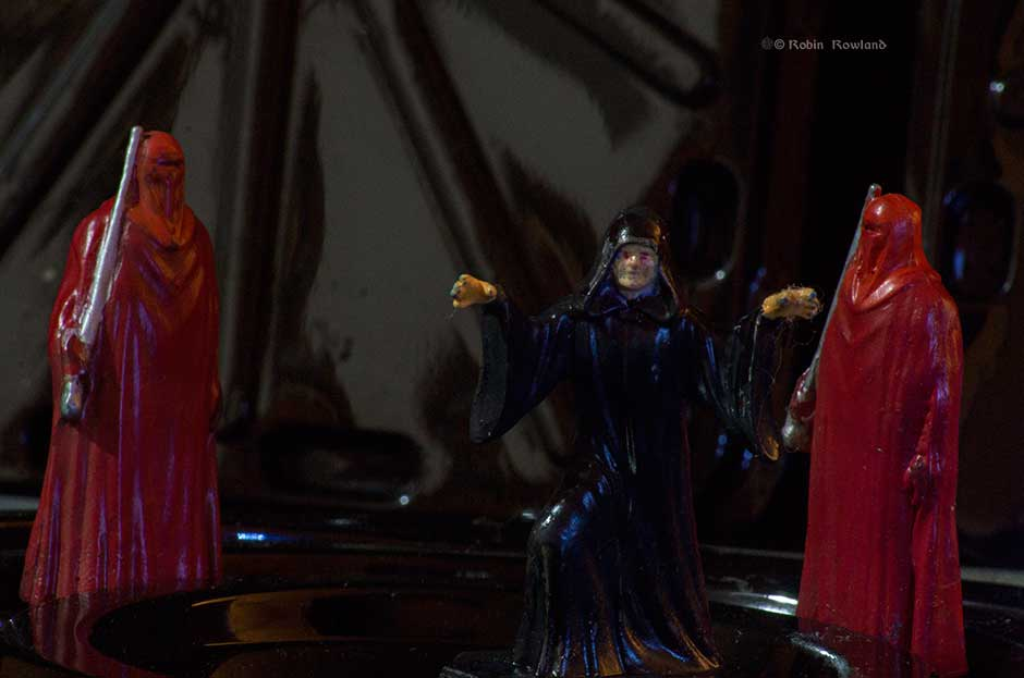 Emperor Palpatine and his guards