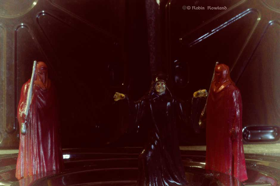 Another old film look at the Emperor and his guards. (Robin Rowland)