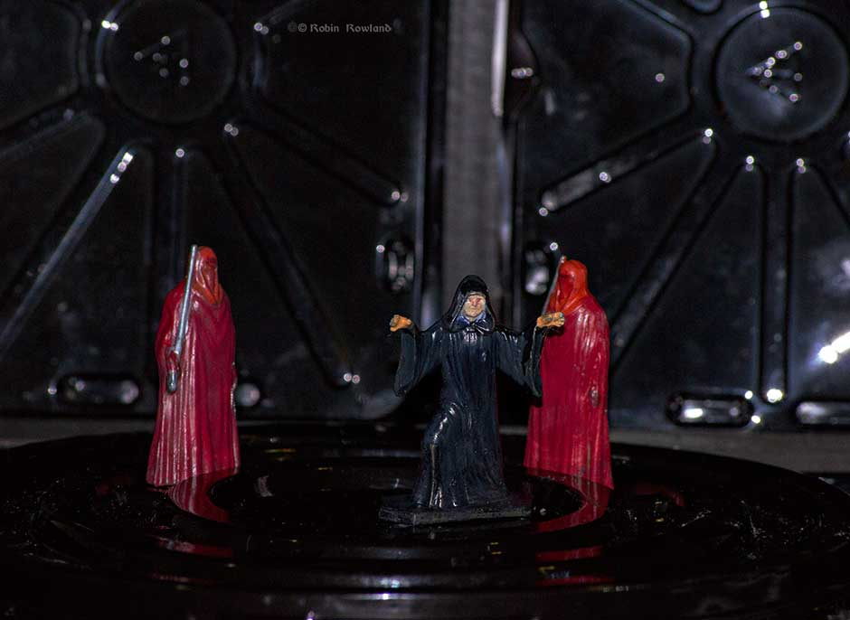 A wider view of Emperor Palpatine and his guards. (Robin Rowland)