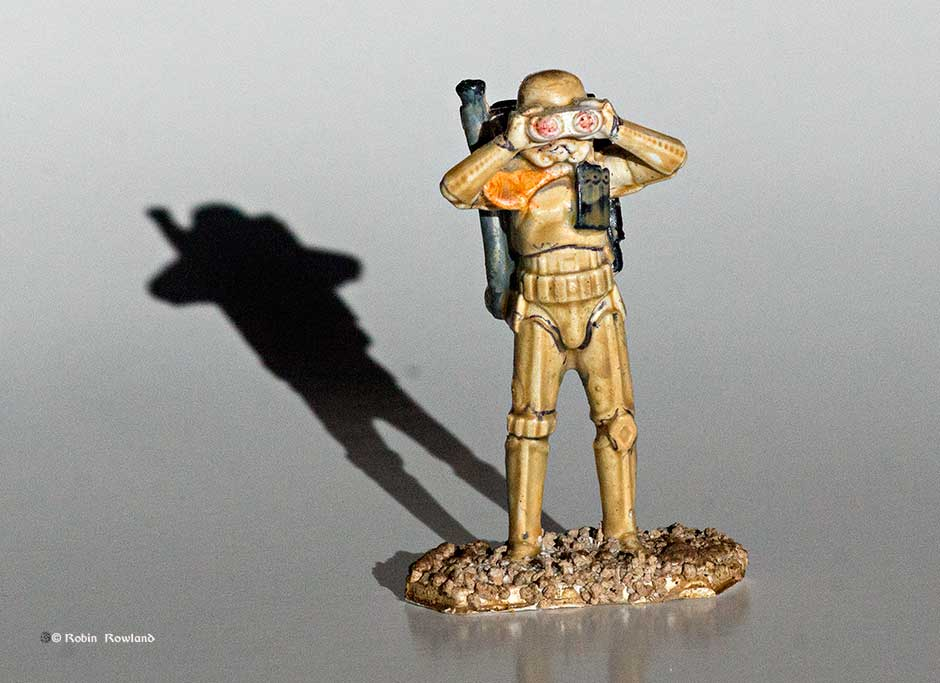 First crack:  A dusty sandtrooper