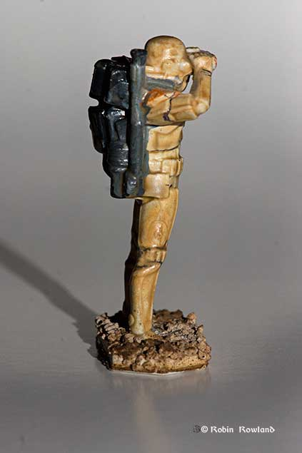 Side view of the Star Wars Command 54mm 1/32 scale sandtrooper (Robin Rowland(