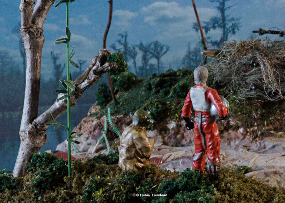 """Do or do not. There is no try"" –  the diorama"
