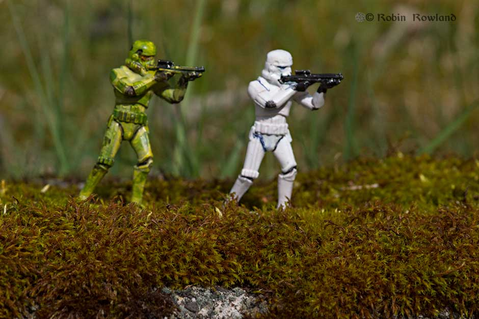 Star Wars in camo I. If you were a Storm Trooper wouldn't you want some camouflage?